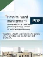 Lecture_Hospital_ward_management_2course_Golubkina