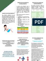 PLANIFICACIÓN, PROGRAMACIÓN Y  DOSIFICACIÓN DE LAS ACTIVIDADES FÍSICAS- EDUCACIÓN FÍSICA