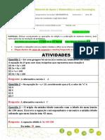 ATIVIDADES – EQUAÇÕES DO 1º GRAU COM DUAS INCÓGNITAS (editável) - Postagem até 17abril
