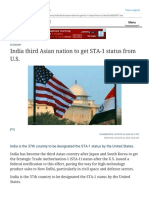 India third Asian nation to get STA-1 status from U.S. - The Hindu.pdf