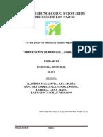 Prevencion de riesgos laborales caso de estudio