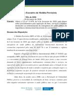 Medida Provisória nº 926, de 2020.