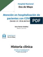 Atención en Hospitalizacion COVID-19 HNDM v1.3
