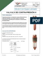TMP-014 Válvula H y Equipo Lubricador