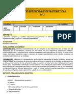 Guía MATEMATICAS 2° 2 SEMANA