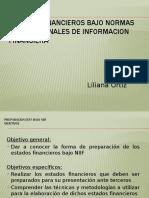ESTADOS FINANCIEROS BAJO NORMAS INTERNACIONALES DE INFORMACION FINANCIERA