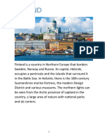 Finland is a country in Northern Europe that borders Sweden.docx
