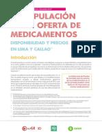 Manipulación en la oferta de medicamentos