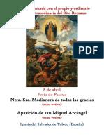 8 de Mayo. Nuestra Señora Medianera de todas las gracias y Aparición de San Miguel (Votivas) Propio y Ordinario de la santa misa