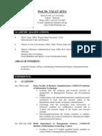 Updated DrTalat Afza CV