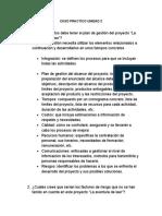 CASO PRACTICO  UNIDAD 2 GERENCIA DE PROYECTOS