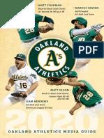 2020 Oakland A's Media Guide