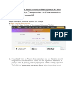 Steps to Create AWS account