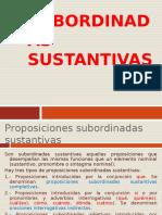 4-TEORÍA-PROPOSICIONES SUBORDINADAS SUSTANTIVAS.ppt