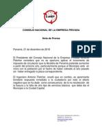 Presidente Del CONEP - Reacción incremento de impuesto