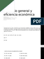 equilibrio general y eficiencia economica