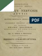 Dissertatio de Febribus Nervosis Acutis