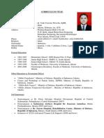 CV of Yudi Yuwono Wiwoho MD -    January 2020