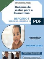 BERÇARIO I - Propostas 2º caderno Ed. Infantil - Creche