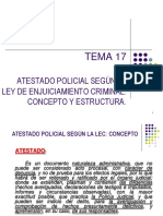 TEMA 17 - EL ATESTADO