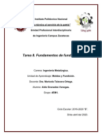 TAREA 8. CONTINUACIÓN 2 FUNDAMENTOS DE FUNDICIÓN