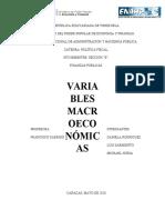 MATERIAL - VARIABLES MACROECONOMICAS