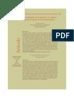 La evaluación de la ciencia en el contexto de las Ciencias de la Documentación