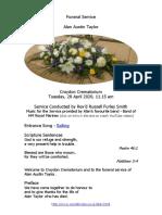 alans funeral service 28-04-2020