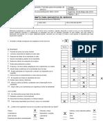 Formato para encuestas de servicio