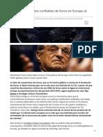 Los Politicos Aliados Confiables de Soros en Europa La Lista