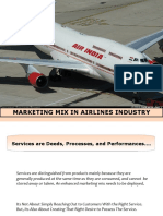 Service Marketing Mix in Airlines Industry 3599