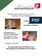 Skat - und Kniffelturnier der SPD Groß-Buchholz  am 18.02.2011
