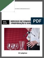 Manual TRB ufcd 8336 - Serviço de vinhos - preparação e execução