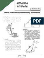 Semana 2 (Fuerzas equivalentes y momentos).pdf
