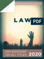 Stanford University Press | Law 2020 Catalog
