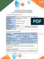 Guía de actividades y rúbrica de evaluación - Fase 1. Evaluar, identificar, definir el problema