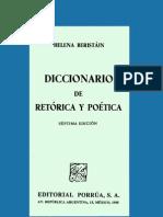 Diccionario de retórica y poética - BERISTÁIN, Helena