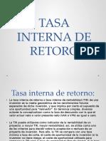 TASA INTERNA DE RETORO.pptx