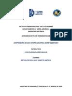 COMPONENTES DE UNA PLANTA INDUSTRIAL DE REFRIGERACIÓN