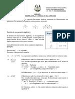 CLASE  NO. 1 EXPRESIONES RACIONALES Y DOMINIO DE UNA EXPRESION.pdf