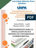 Proceso de Instalacion de un distema de contabilidad gubernamental-1