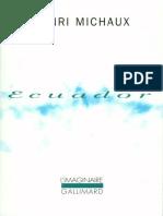 Henri Michaux - Ecuador Journal de voyage- Jericho