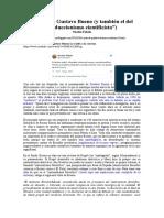 El mito de Gustavo Bueno (y también el del 'reduccionismo cientificista') - Nicolás Fabelo