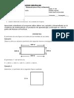 Grado 3 Matemática Guía taller 4  Perímetro