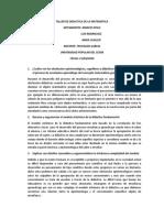 TALLER DE DIDACTICA DE LA MATEMATICA