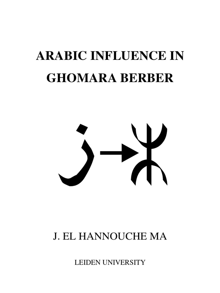 Arabic Influence in Ghomara Berber by J El Hannouche | Grammatical ...