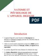 Anatomie et Physiologie du systeme digestif
