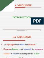 Cours de myologie