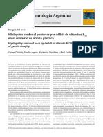 Mielopata cordonal posterior por dficit de vitamina B12 en el contexto de atrofia gstrica