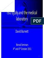 ISO 15189 and the medical laboratory